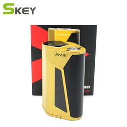 Wholesale E Cigarette 2pcs - 100%Authentic SMOK GX350 TC Box MOD 350W 220W 4pcs 2pcs 18650 Batteries Fit for TFV8 Big Baby Tank E Cigarette Atomizer