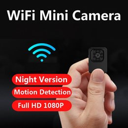 Wholesale wholesale recorders - New 8LED Night Version WiFi Wireless Mini Camera 12MP Car DVR Motion Detection R3 HD 1080P 30fps Video Recorder TV-out Bicycle Camcorder