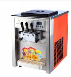 Wholesale Flavor Ice - 110V 18L H Commercial 3 Flavor ice cream maker Soft ice cream making machine