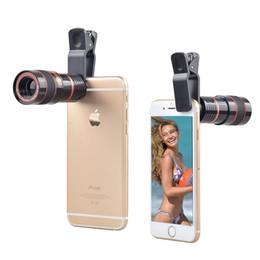 téléphones zooms samsung Promotion 8x Zoom Télescope Téléobjectif Lentille pour Samsung S6 Note 5 pour iphone 6 Plus Mobile Téléphone