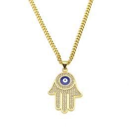 Wholesale Evil Eye Amulets - Lucky Charm Amulet Hamsa Fatima Hand Evil Eyes Keychains Purse Bag Buckle Pendant For Car Keyrings key chains holder women