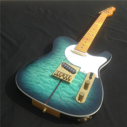 Wholesale Custom Tl - Hot sale Chinese TL Style Best clouds striped Electric Guitar, Custom Available Electric guitar free shipping
