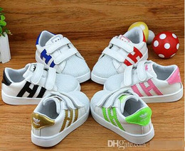 Wholesale Pink Girl Sneakers - Brand Skateboarding Superstar Shell Head Sneakers Children Sport Shoes Running Shoes for kids,boys sneakers girls Children's casual shoes