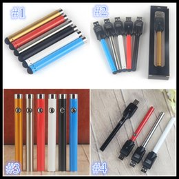 Wholesale Usb Slim - Vape pen Bud Touch Battery mini slim open button batteries with USB Charger 510 Thread for CE3 cartridge atomizer vapes