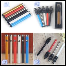 Vape penna Bud Touch Batteria mini batterie a bottone aperto con caricatore USB 510 Filettatura per vapori atomizzatore a cartuccia CE3 da