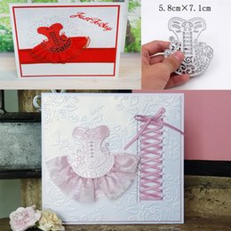Wholesale Stamps For Scrapbooking - Dance skirt Metal Cutting Dies Stencils for DIY Scrapbooking Stamp photo album Decorative Embossing DIY Paper Cards