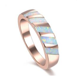 Wholesale Sterling Silver Fire Opal Jewelry - White Fire Opal 925 Sterling Silver Fashion Jewelry Ring Size 5 6 7 8 9 10