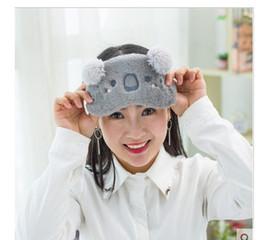 Wholesale Eyes Black Mask For Sleep - Cucommax Cut Koala bunny Sleeping Eye Mask Nap Cartoon Plush Eye Shade Sleep Mask Black Mask Bandage on Eyes for Sleeping