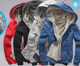 Wholesale Winter White Plush Coat - Wholesale- Promotional 2012 new men's plush thick warm overcoat winter coat fleece & cotton padded Jacket Men jackets m l xl xxl