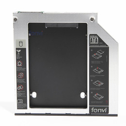 "Wholesale 2nd Hard Disk - Wholesale- Fenvi New 2nd HDD caddy SuperDrive 2.5"" Hard Disk Driver Case Enclosure Replacement 9.5mm SATA Optical Bay"