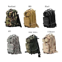 Wholesale Backpack Military Molle Tactical - 30L Outdoor Sport Military Tactical Backpack Molle Rucksacks Camping Trekking Bag backpacks 50pcs Free DHL Fedex