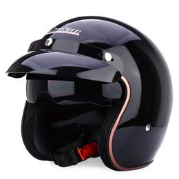 Wholesale Helmets Jiekai - Wholesale- JIEKAI JK-510 Universal Motorcycle Helmet Harley Retro Open Face Cold Protection Safe Riding Scooter Headpiece with Visor L XL