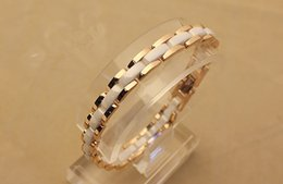 Wholesale Ceramic Ornament - 316L Titanium Steel Bracelet Fashion Strap Style Ceramic Bracelet Ornament for ladies