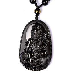 Wholesale Obsidian Zodiac Buddha - Natural obsidian bodhisattva Buddha statue of Buddha statue of the zodiac dragon Buddha amulet