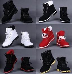 Wholesale Lace Up Waterproof Boots Low - Winter Plush fur warm snow boots Genuine Leather men women fashion shoes motor outdoor man waterproof martin botas 2017 platform