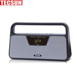 Wholesale Digital Computer Stereo Speaker - Wholesale-Original TECSUN A9 FM Stereo Radio Reception LED Digital Display MP3 Player Computer Speaker Radio Receiver Portable Radio