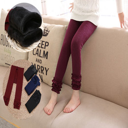 Wholesale Tights Girls Models - Autumn and winter models Girls leggings children pants kids thick warm air colorful velvet leggings pants kids Lace pants children