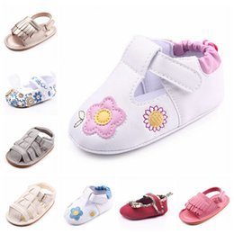 Wholesale Soft Soled Shoes Cloth - Toddler Baby Boys Girls Moccasins Tassels Soft Fabric PU Leather Sandals Sole Flowers Cloth Shoes Non-Slip First Walker Shoes 10 Colors