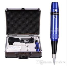 Wholesale Machine Tatoo Kits - Permanent makeup pen machine kit professional eyebrow tattoo machine power supply tatoo makeup equipment tool set