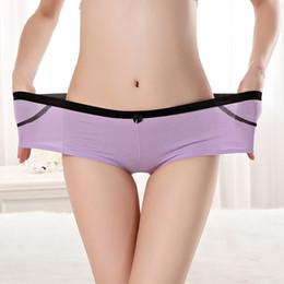 Wholesale Underwear Boy Hot - Yun Meng Ni Underwear Hot Selling Breathable Cotton Shorts Lady Intimates Plain Color Lady Boyshort Panties