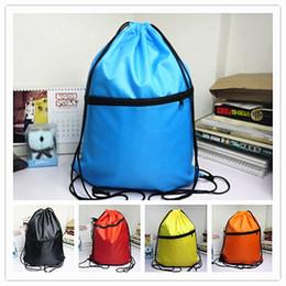 nette ladenbeutel Rabatt New-cute Drawstring Beam taschen Einfarbig Rucksack Einkaufstaschen Mode Aufbewahrungsbeutel Geschenke Taschen großhandel A0480
