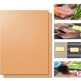 Wholesale Charcoal Pads - Yoshi Copper Grill Mats Durable BBQ Mat Non Stick Roast Bakeware Pads Both Sides Bake Pad Heat Resistant For Cooking CCA6251 150set