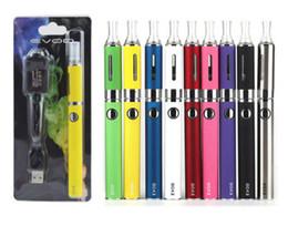 Wholesale white ce4 atomizer - Evod MT3 Starter Kit Electronic Cigarette with 650 900 1100mAh eVod Battery 2.4ml MT3 Atomizer Blister Pack Ecig Ego CE4 Vapor Vape Pen Kits