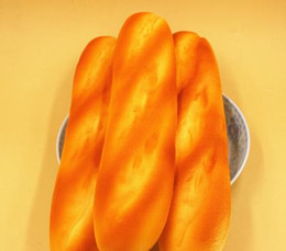 Wholesale 1 New French Baguettes Jumbo Squishy Keyboard Hand Pillow Scent Loaf Bread Toy High life