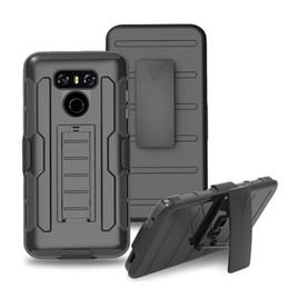 Wholesale Phoenix Bodies - Full Body Combo Cover Case for LG G6 LV3 Aristo Phoenix 3 MS210 LV5 K20 V Plus K8 K10 2017 Protective Shell with Kickstand & Blet Clip