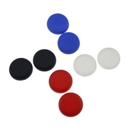Wholesale Game Console Cases - Game Accessories 8Pcs TPU Analog PS4 Controller Cover Skin Thumb Stick Grips Joystick Caps Case for Sony PlayStation 4 Console