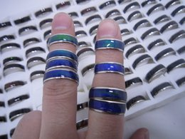 Wholesale wholesale mood jewelry - wholesale 100pcs mix size mood ring changes color to your temperature reveal your inner emotion cheap fashion jewelry Free DHL