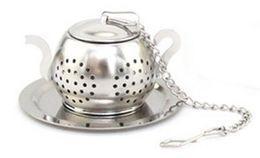 Wholesale Teapots Wholesale - Free Shipping 50 pcs Stainless Steel Teapot Shape Tea Infuser for Loose Tea