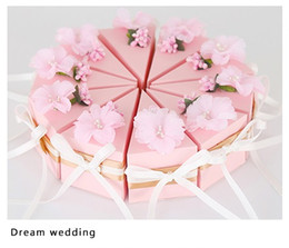 Wholesale Card Making Designs - Wedding Supplies Flower Style Favor Holders Chocolates and Candys Box 6 Colors Pure Hand-made Beautiful and Fashion Design