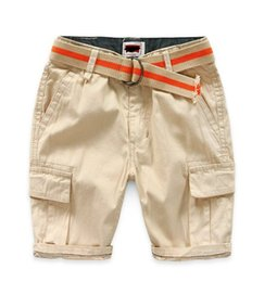 Wholesale Baby Cargo - New arrival Boys Baby casual pocket shorts pants Boys kids Belt Cargo Shorts Brand clothing Wholesale