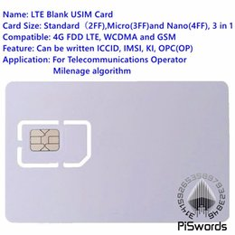 2019 t мобильный iphone 4s Оптово-Piswords SIM-карта USIM 4G LTE WCDMA GSM Бланк Мини Nano микро записываемая программируемая SIM-карта для оператора Milenage алгоритм