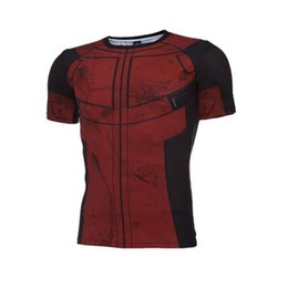 Wholesale Wholesale Fitness Clothing For Men - Fun Deadpool Shirt Tee 3D Printed Fitness G ym Clothing Deadpool Costume Display T Shirt For Men Free Shipping