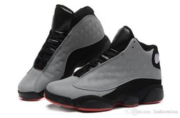 Wholesale Reflective Silver - Sport Sneakers Air Retro 13 Retro 3M Reflective Silver Infrared 23 Black Basketball Shoes Sports 13s Bred Athletics Shoes With Box