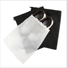 Wholesale Proof Set Storage - 30pcs big 29X35cm Travel Storage Shoe Dust-proof Tote Dust Bag Case black white Non-Woven Travel Shoe Storage Bag