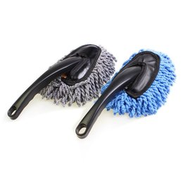 Wholesale Dust Mop Cleaner - High Quality Multifunctional Car Duster Cleaning Dirt Dust Clean Brush Dusting Tool Mop Purple Brush