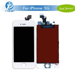 Wholesale Iphone 5g Wholesale - A+++ Quality LCD Display Touch Screen Digitizer for iPhone 5G Repair Replacement Parts+Repair Tools & Free Shipping