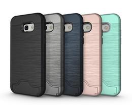 Cas de fente pour carte pour Samsung A5 2017 Armure affaire coque arrière couverture rigide avec étui de kickstand pour samsung A3 2017 ? partir de fabricateur