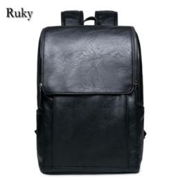 Wholesale American Grade - Wholesale- 2016 Hot Sell Leisure High Quality Men Business Backpacks Fashion High Grade PU Leather Designer Men's Schoolbag Travel Bag