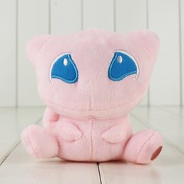 Wholesale Mew Poke - 10cm Anime Poke Mew Plush Pikachu Soft Plush Doll Stuffed Toys for Kids Gift free shipping retail
