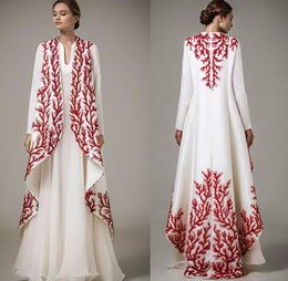 Wholesale Islamic Clothing Arabic - 2017 Muslim evening dresses beading embroidery dubai arabic kaftan abayas Islamic clothing evening gowns Vestido de Festa Longo