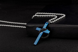 Wholesale Necklace Cross Titanium - Titanium steel Pendant Necklace Charm Capsule silver leather Cylindrical Pendants Stainless Steel Necklace for women&men