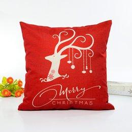 Feliz ano novo natal on-line-Moda New Christmas Rena Capa de Almofada Feliz Ano Novo Fronha de Natal Renas Fronha Fronhas Home Decor