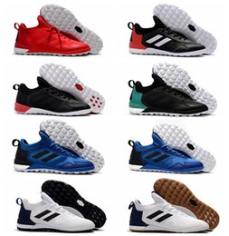 Wholesale Ace Leather - 2017 men soccer cleats ACE Tango 17 + Purecontrol TF IC cheap indoor soccer shoes original predator football boots turf futsal kids leather