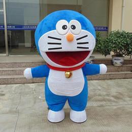 Wholesale Cat Mascot Head Costumes - 2017 hot new Big Head Mechanical Cat of Doraemon Mascot Costume Halloween Fancy Dress..