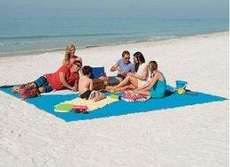 Wholesale Pink Hand Cushion - 3 Colors Sand Free Mat Blanket Camping Mat Outdoor Picnic Foldable Mattress Camping Cushion Beach Mat 200*150cm