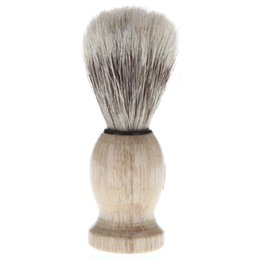 Wholesale Female Beards - Pro Hair Cutting Neck Face Hair Cleaning Clean Brushes Barber Shaving Beard Cleaning Brush Tool Hairdressing Tools wood handle